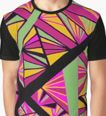 Psychadelic Taffy-colored Prism Print Graphic T-Shirt