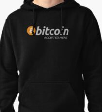 Bitcoin Shirt Bitcoin Accepted Here T-Shirt - BTC Logo Pullover Hoodie