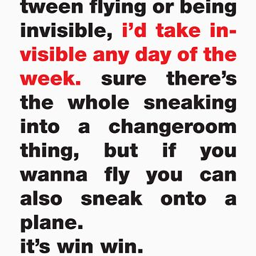 Invisible Any Day Of The Week by typed