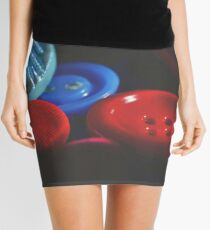 Buttons, buttons, red and blue buttons! Mini Skirt