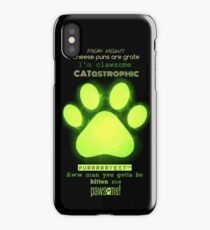 Miraculous Ladybug - Chat Noir / funny cat puns iPhone Case