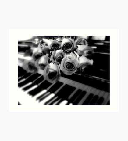 music & roses © 2009 patricia vannucci  Art Print