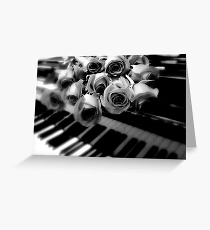 music & roses © 2009 patricia vannucci  Greeting Card