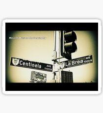 Centinela & La Brea, Inglewood, CA by Mistah Wilson Photography Sticker