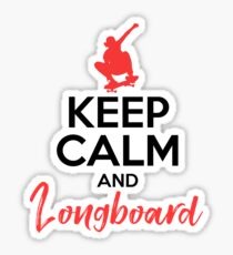 KEEP CALM AND LONGBOARD Sticker