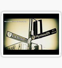 La Brea & Plymouth1 Inglewood CA by Mistah Wilson Photography Sticker