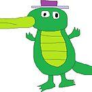 Gator in a Hat by Gabe-Draws