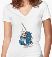 Sailor Carp Women's Fitted V-Neck T-Shirt