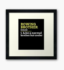 Rowing Brother Framed Print