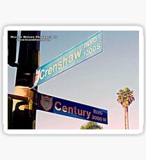Century & Crenshaw1 Inglewood CA by Mistah Wilson Photography Sticker