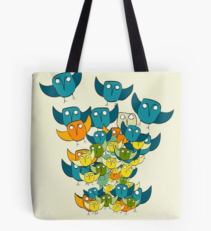 And out of nowhere came an owl storm Tote Bag