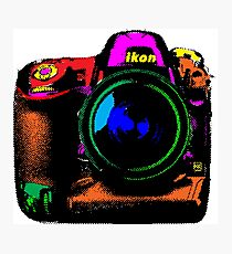 Camera pop art Photographic Print