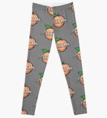 """Peachy Frickin Keen"" Sarcastic Fruit T Shirt Leggings"