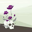 Skull with Flowers by jbott