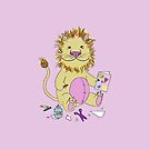 Baby Lion with Card by SaylorDoone