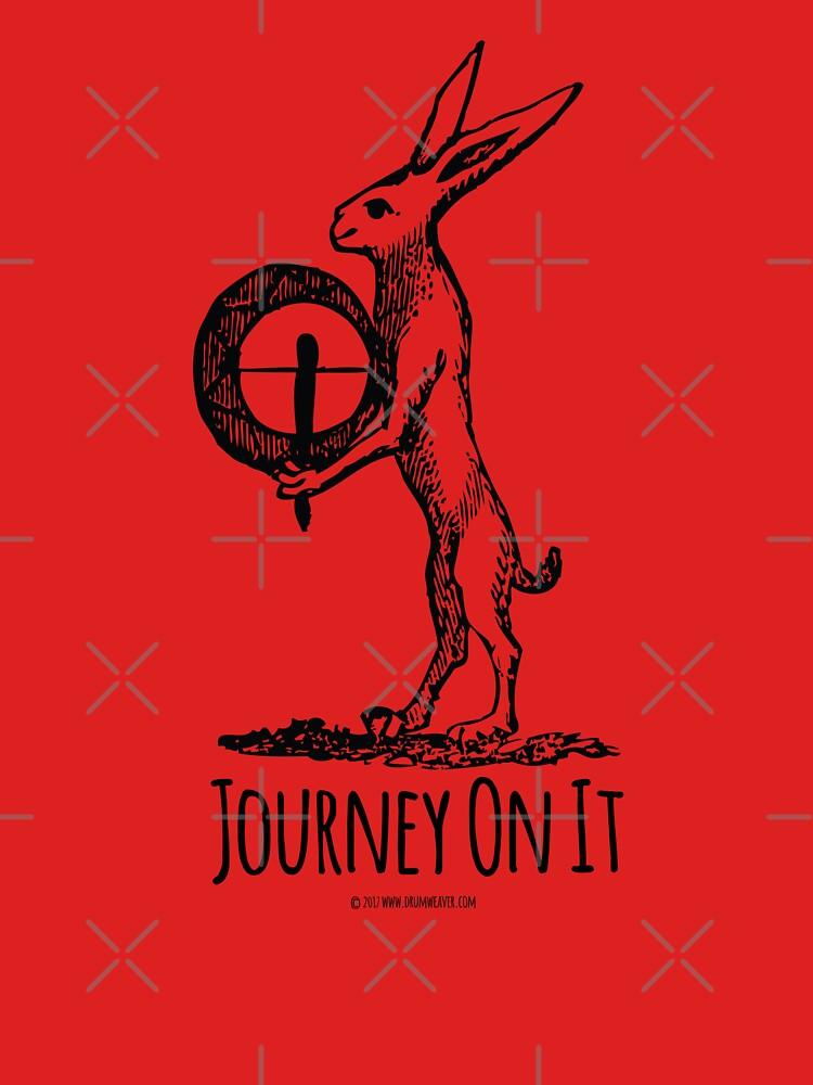 journey on it shamanic t-shirt by drumweaver