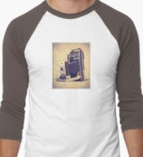 Polaroid Camera with Bellows - Vintage Color Baseball ¾ Sleeve T-Shirt