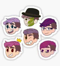 Sander Points! - purple set (stickers) Sticker