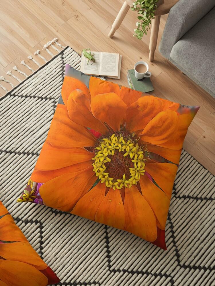 Orange and Yellow Zinnia by bloomingvine