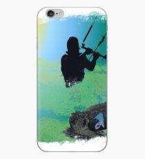 Kitesurf chalk edge iPhone Case