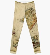 Map Of Majorca 1756 Leggings