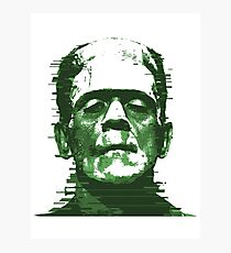 Retro Frankenstein Glitch Remix — Type A Photographic Print