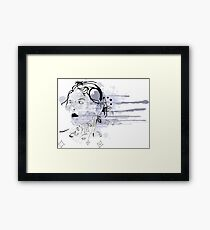 Girl with tattoos Framed Print