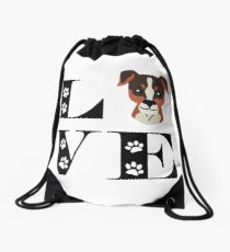 Jack Russel Dog Love Drawstring Bag