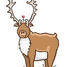 Pagniq Love - Bull caribou Kawaii by Rainey Hopson