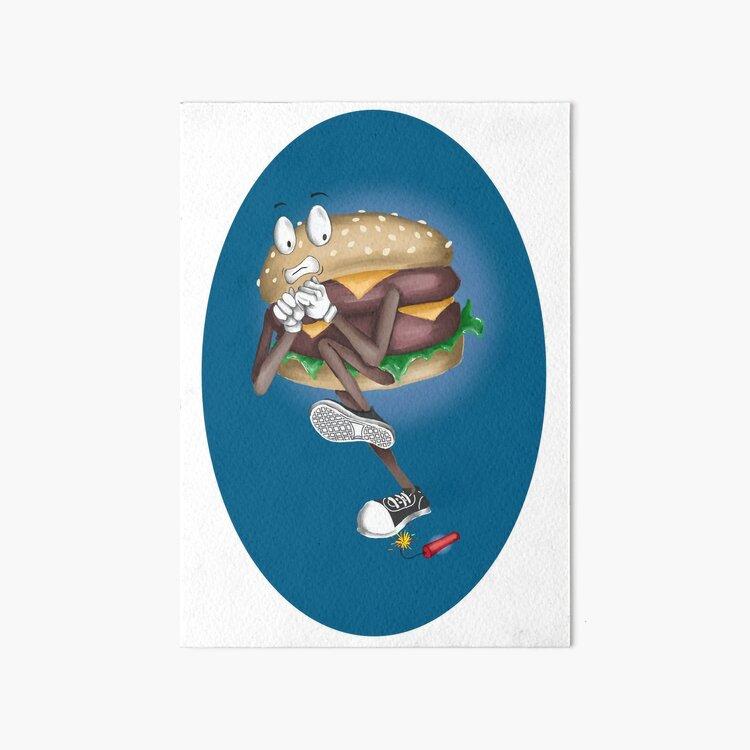 Scaredy Burger Art Board Print