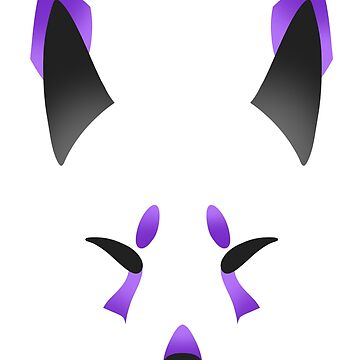 Purple Kitsune on Grey by SpindleSpice