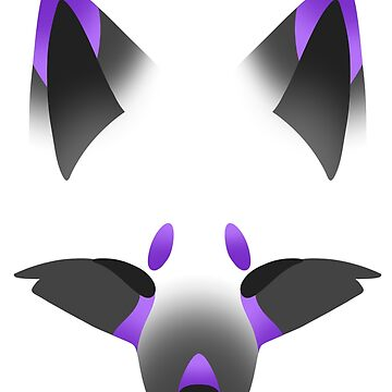 Purple Kitsune on White by SpindleSpice