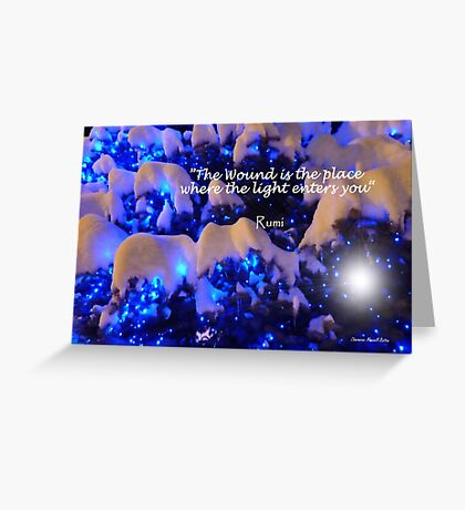 Snow and Light Greeting Card