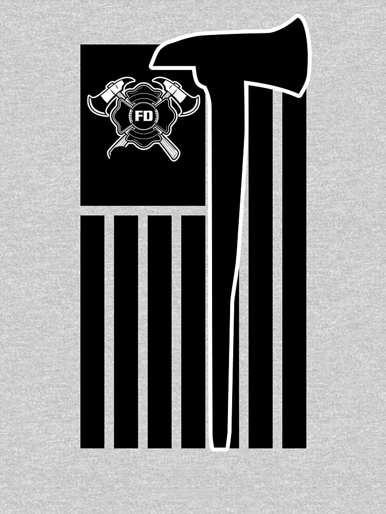 Fireman Flag Tee Shirt With Fireman's Crest Honor The Badge by trushirtdesigns
