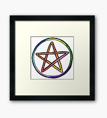 Rainbow Pentacle Framed Print