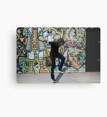 Skater + graffiti Metal Print