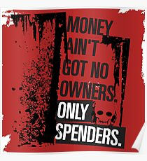 """Money Ain't Got No Owners - """"The Wire"""" - Dark Poster"""