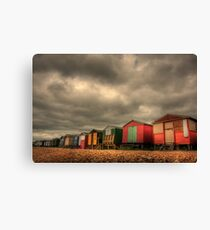 Whitstable Beach Huts 2 Canvas Print