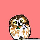 Flower Owl by sneercampaign