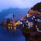 Beautiful Village of Hallstatt Austria at Twilight by Yen Baet