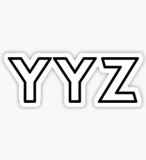 YYZ • MISSISSAUGA, ONTARIO AIRPORT • BLACK • OUTLINE Sticker