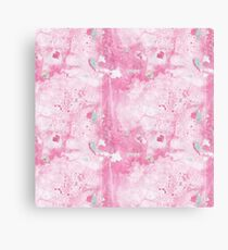 Pink and Mint Marble Canvas Print