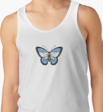 Argentinian Flag Butterfly Tank Top