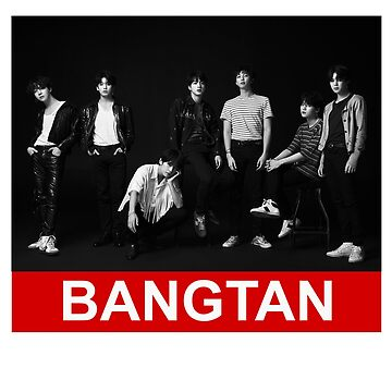 "BTS ""BANGTAN"" BLACK AND RED by bangtanetic"