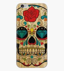 Wood Sugar Skull iPhone Case