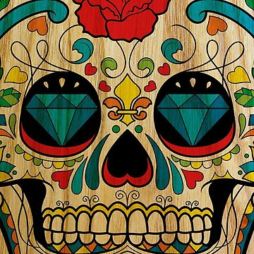 Wood Sugar Skull by Bethany-Bailey