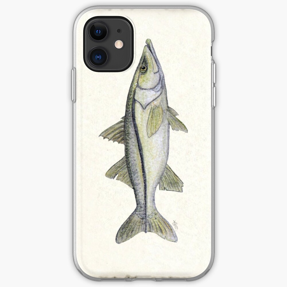 """Snook"" by Amber Marine ~ watercolor fish art, © 2013 iPhone Soft Case"