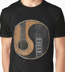 Yin Yang Guitar Graphic T-Shirt
