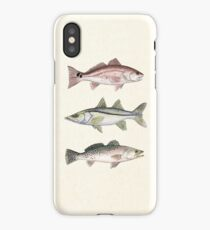 """""""Inshore Slam""""  by Amber Marine ~ watercolor redfish, snook, and trout art, © 2013 iPhone Case"""