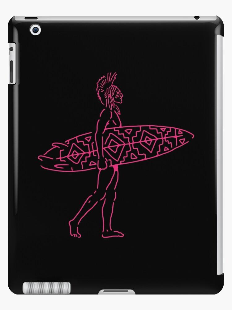 Indian Surfer [sticker version] by JamesShannon